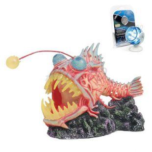Dekoráció - Monster Fish fehér LED világítással