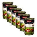 GranCarno Fleisch Adult kutyaeledel nyúl + gyógynövények - 6 x 400 g