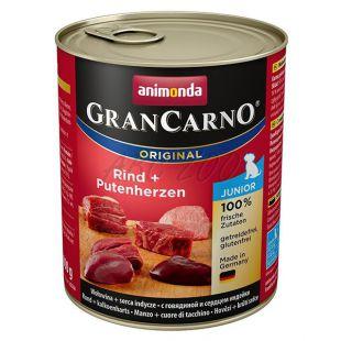 GranCarno Fleisch Junior marhahús + pulykaszív - 800g