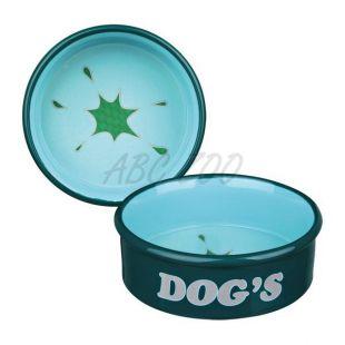 Kerámia tál kutyáknak - sötétzöld,  1l