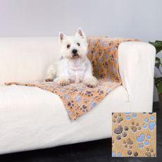 Takaró kutyáknak LASLO - bézs tappancsokkal, 100 x 70 cm