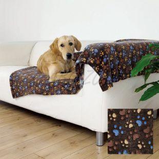 Takaró kutyáknak LASLO - barna tappancsokkal, 100 x 70 cm