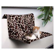 Fűtőtest ágy macskáknak, plüss - 48x26x30cm