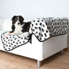 Kétoldalas kutyatakaró BENNY - fekete-fehér, 150 x 100 cm