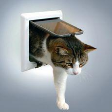 Ajtó macskáknak alagúttal - fehér 21 x 21 cm