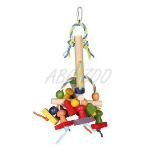 Színes fa játék madaraknak - 31 cm