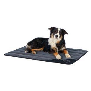 Takaró kutyáknak DENTA, szürkés fekete - 70 x 50 cm