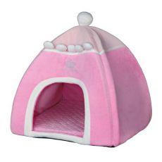 Ágy kutyáknak és macskáknak, Iglu Princess, rózsaszín - 40 x 40 x 42 cm