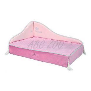 Kanapé kutyáknak és macskáknak Princess, rózsaszín - 60 x 45 cm