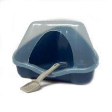 Sarok toalett fedéllel NORA 1C kék - 18 x 13 x 11 cm