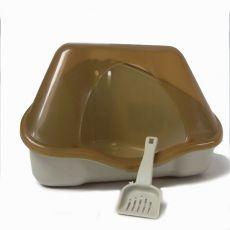 Sarok toalett fedéllel NORA 1C bézs - 18 x 13 x 11 cm