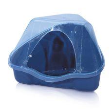 Sarok toalett fedéllel NORA 3C kék - 50 x 34 x 32 cm