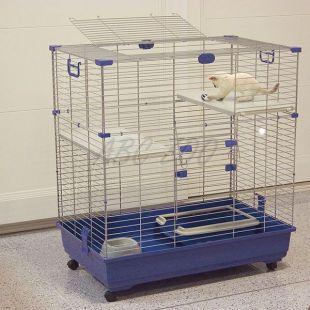 Ketrec macskáknak ELSA 82 C2, kék - 82x51x94cm
