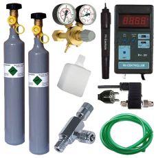 CO2 profesional készlet + pótpalack 500g + pH Controller