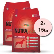 NUTRA GOLD HOLISTIC Adult Lamb & Rice 2 x 15 kg