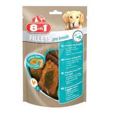 Csirke filé kutyáknak 8 in 1 FILLETS PRO BREATH - 80g