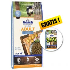 Bosch ADULT Fish & Potato 15 kg + 3kg GRÁTISZ