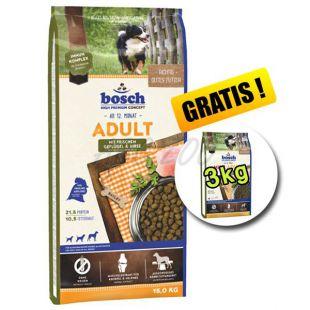 Bosch ADULT Poultry and Millet 15kg + 3kg INGYEN