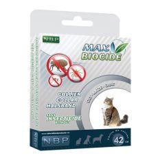 MAX BIOCIDE Paraziták elleni nyakörv macskáknak - 42 cm