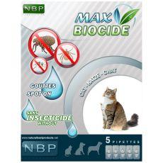 MAX BIOCIDE Paraziták elleni cseppek macskáknak, 5 db