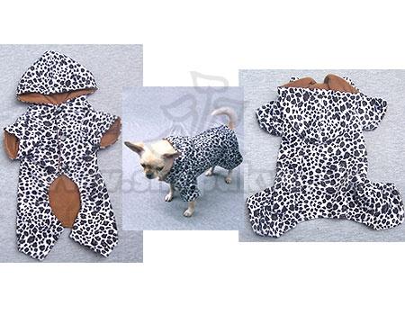 Overal pre psíka - leopard bieločierny